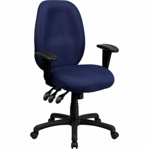Blue Fabric Office Chair Blue - BT-6191H-NY-GG by Flash Furniture