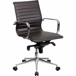Bonded Leather Office Chair Brown - BT-9826M-BRN-GG by Flash Furniture