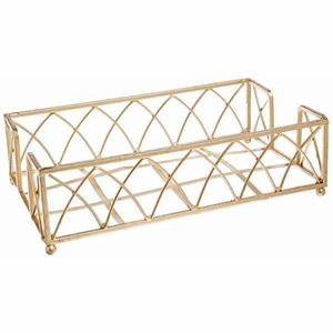 Boston International Guest Towel Caddy, Arch Design in Gold Leaf
