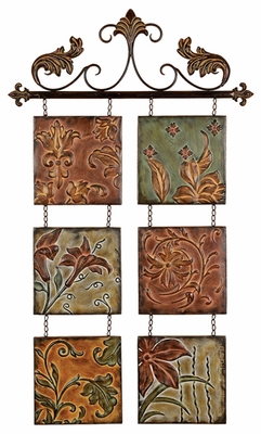 METAL wall decor BOTANICAL SCROLL METAL - 99204 by Benzara