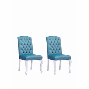 BOURBON DINING CHAIR BLUE VELVET