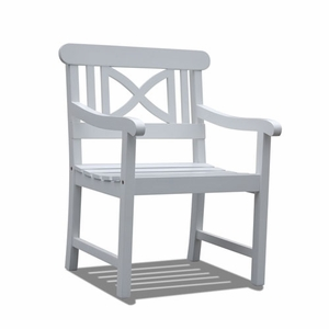 Bradley Outdoor Wood Arm Chair V1341