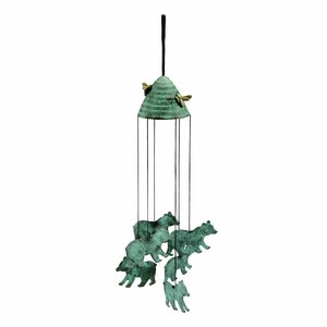 Brass Wind Chime with Bears and Beehive by SPI-HOME