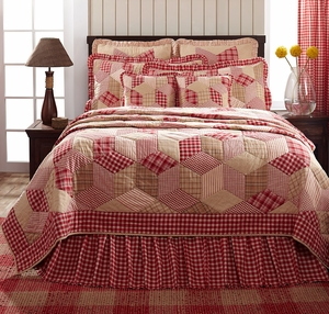 """Breckenridge Quilted Euro Sham Ruffled 26"""" x 26"""" by VHC Brands"""