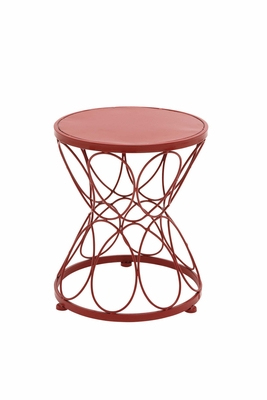 Bright Exclusive Metal Red Plant Stand - 28906 by Benzara