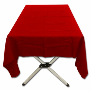 Bright Red Polyester Poplin Tablecloth by TAIB