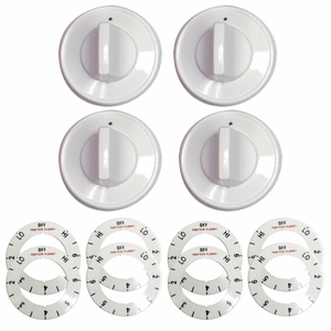 8134 Range Kleen 32-Piece Replacement Knob Kit for 4 Knobs, Electric Ranges, White