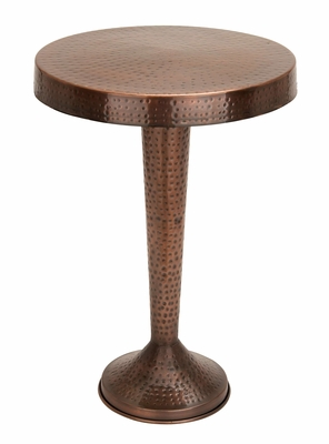 Vintage Inspire Metal Bronze Accent Table - 26900 by Benzara