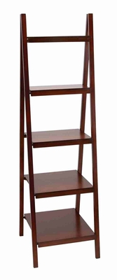 WOOD BOOKCASE66 INCHES HIGH SPECIALLY FOR BOOKS LOVERS - 96168 by Benzara