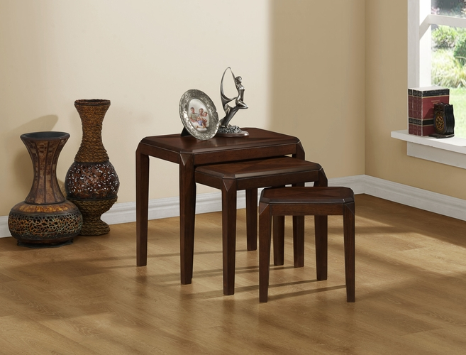 Monarch specialties inc mhs i 1944 brown oak veneer 3pcs for Wild orchid furniture