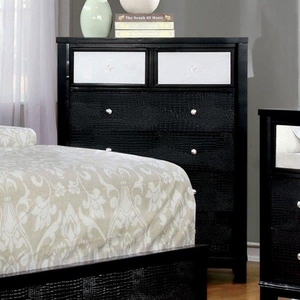 Bryant II Contemporary Style Textured Chest, Black