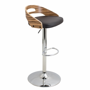BS-CASS ZB-BN Cassis Height Adjustable Barstool with Swivel
