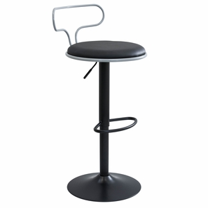 BS-CONTR-GY-BK Contour Contemporary Adjustable Barstool by LumiSource