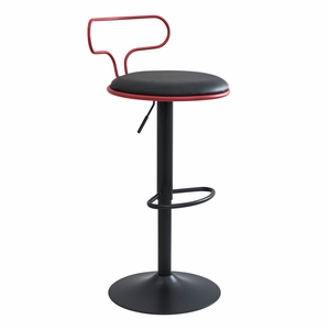 BS-CONTR-R-BK Contour Contemporary Adjustable Barstool by LumiSource