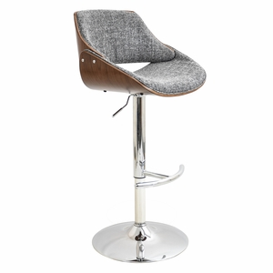 BS-FBZZ-WL-GY Fabrizzi Height Adjustable Barstool with Swivel