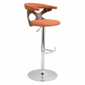 BS-GARD-WL-O Gardenia Height Adjustable Barstool with Swivel