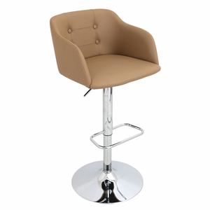 BS-JY-CMP-CAM Campania Height Adjustable Barstool with Swivel