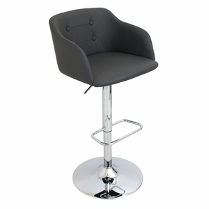 BS-JY-CMP-GY Campania Height Adjustable Barstool with Swivel