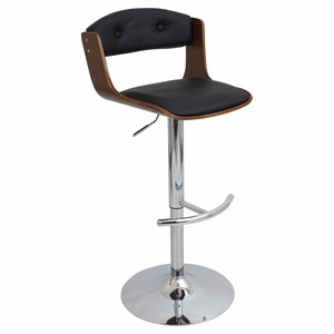 BS-JY-SCC-WL-BK Scucci Height Adjustable Barstool with Swivel