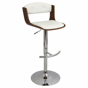 BS-JY-SCC-WL-W Scucci Height Adjustable Barstool with Swivel