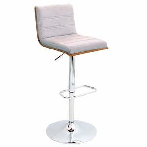 BS-JY-VSR-WL-GY Vasari Height Adjustable Barstool with Swivel