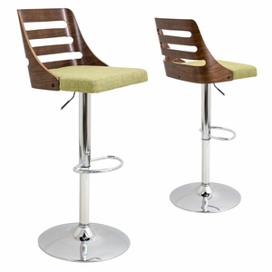 BS-TRV-WL-GN Trevi Height Adjustable Barstool with Swivel