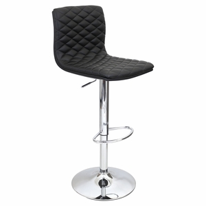 BS-TW-CAV-BK Caviar Height Adjustable Barstool with Swivel