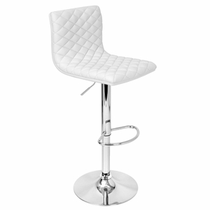 BS-TW-CAV-W Caviar Height Adjustable Barstool with Swivel