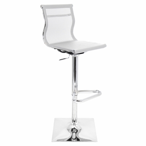 BS-TW-MIRAGE-W Mirage Height Adjustable Barstool with Swivel