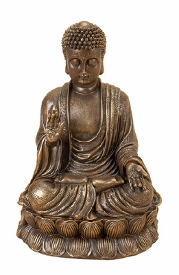 POLYSTONE BUDDHA COORDINATING TO PRESENTDecorATION - 75441 by Benzara
