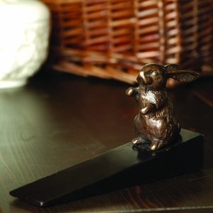 Bunny in Glossy Brass Finished Doorstop by SPI-HOME
