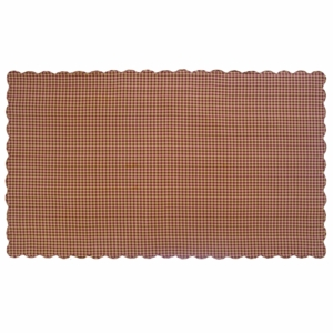 Burgundy Check Scalloped Table Cloth 60x102