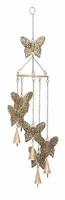 Butterfly Wind Chimes With Naturaldecor Blend - 26715 by Benzara