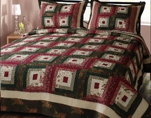 Cabin Hearth Colorful Cotton Quilt Queen with Geometric Design Brand Elegant decor
