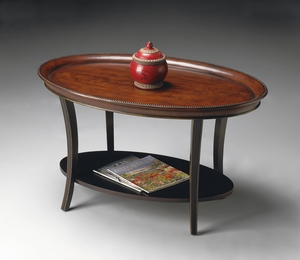 """Cafe Noir Oval Cocktail Table 38""""W by Butler Specialty"""