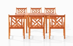Caicos Six-Seater Dining Set by Vifah