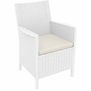California Resin Wickerlook Chair White
