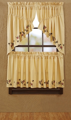 """Cambrie Lane Prairie Swag Bees Lined Set of 2 36x36x18"""" Brand VHC"""