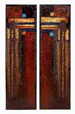 Canvas Painting Set Of 2 Assorted With Distinguished Art Appeal - 80966 By Benzara