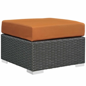 Canvas Tuscan Sojourn Outdoor Patio Sunbrella Ottoman