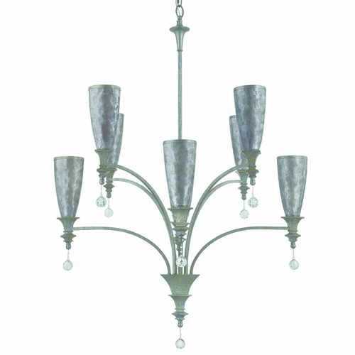 Yosemite Home Decor Cl103c 4 4gr Capi Z Collection Attractive 8 Lights Chandelier In Antique