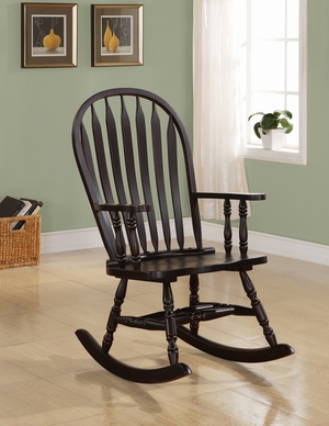 ... Furniture Accent Chairs Cappuccino Arrow Windsor Back Rocking Chair