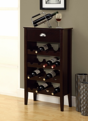 Cappuccino Wine Rack For 16 Bottles
