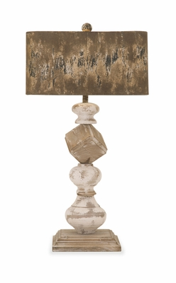 Captivating Brook Wood and Metal Table Lamp