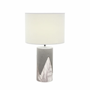 Captivating Concrete Metal Table Lamp - 82966 by Benzara