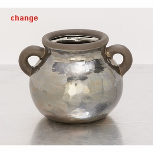 Captivating Ceramic Metallic Pot - 42359 by Benzara
