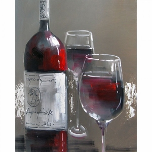 Yosemite Home Decor Captivating Masterpiece of Wine and Two Glasses III