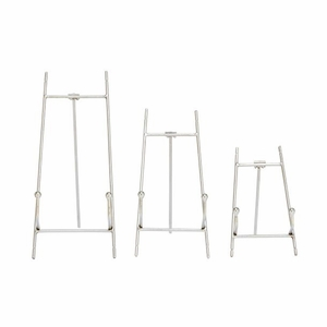 Captivating Metal Easel Silver Set Of 3 by Benzara