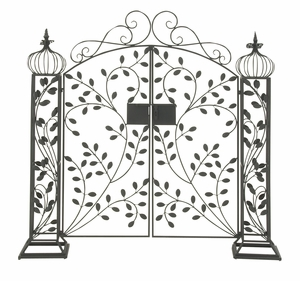 Captivating Metal Garden Gate - 29085 by Benzara
