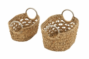 Captivating Set Of 2 Sea Grass Baskets - 49039 by Benzara